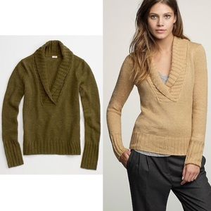 J.CREW Olive Green Mohair Wool Blend Sweater